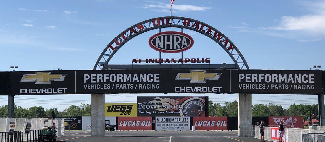 lucas oil raceway arch bridge